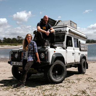Jessi And The Bass: Meet The German Couple Traveling North America In A Defender