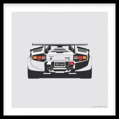 Countach Rear Artprint