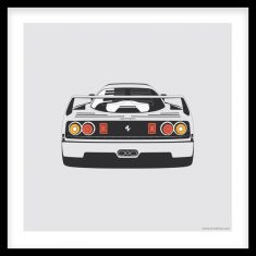 F40 Rear Artprint