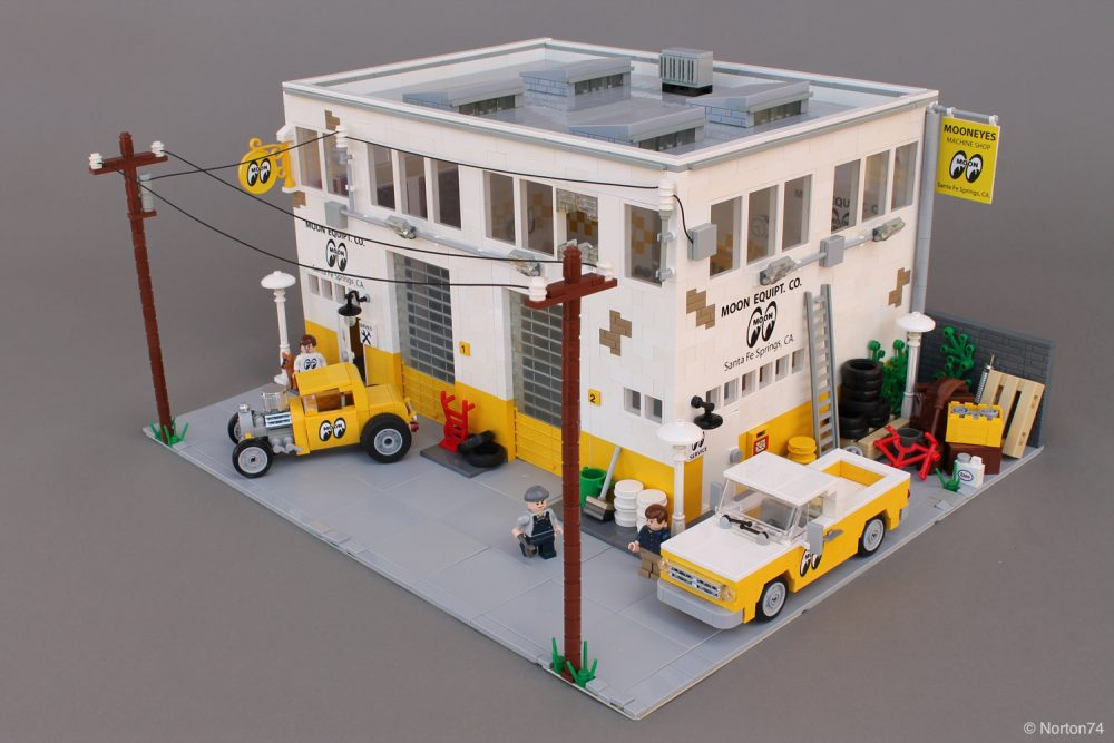 This Lego Mooneyes Garage Has All The Right Pieces Petrolicious
