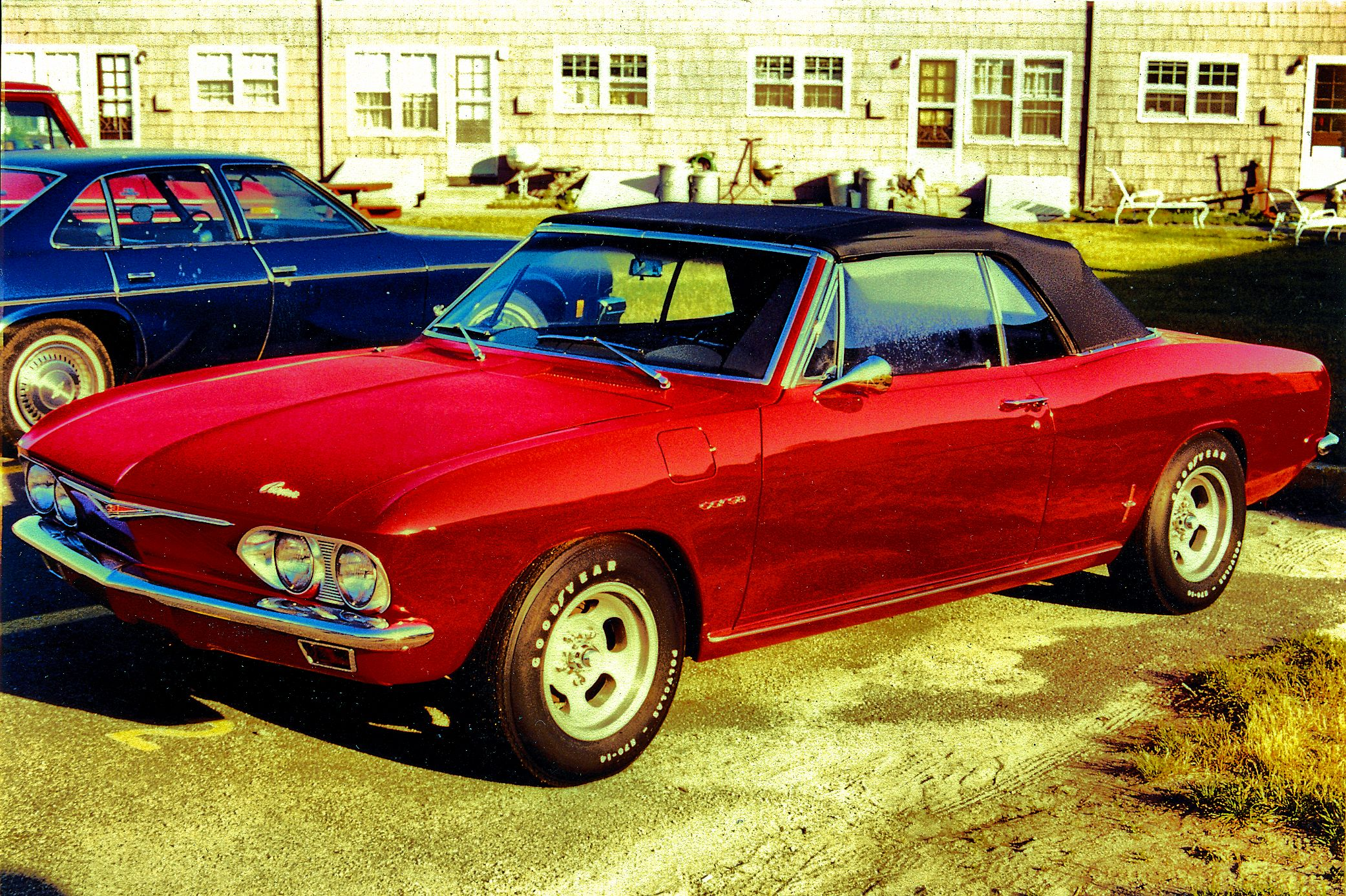 1965 Corvair Corsa Convertible 140hp 4x1 - Spring 1980 - Base Housing - Hanscom AFB, MA.jpg