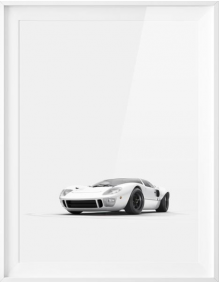 GT40 Front Poster