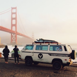 VW Vanagon and RWB Porsche Continue Their Coastal Surfing Tour