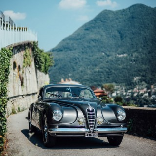 The Alfa Romeo 6C 2500 SS 'Villa d'Este' In Its Natural Habitat