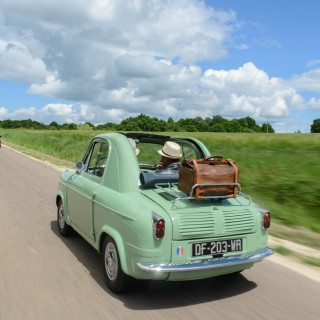 Exploring The French Countryside On The Vespa 400 Microcar's 60th Birthday