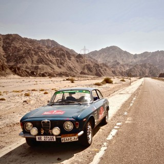 Sprinting Along Egypt And The Nile River In An Alfa Romeo Giulia