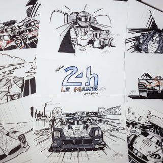 A Different Test Of Endurance: 24 Hours Of Drawing The 24 Hours Of Le Mans