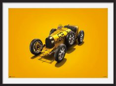 Bugatti T35 – Colors of Speed Poster