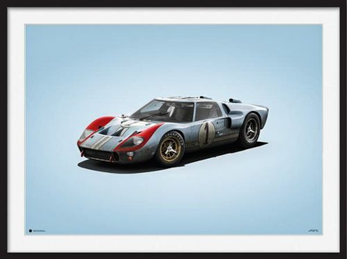 Automobilist Ford Gt Colors Of Speed Poster