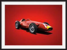 Maserati 250F – Colors of Speed Poster