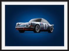Porsche 911RSR – Colors of Speed Poster