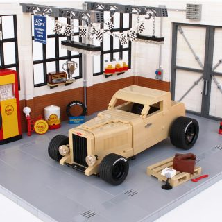 Vintage Ford Hot-Rodding In LEGO Style