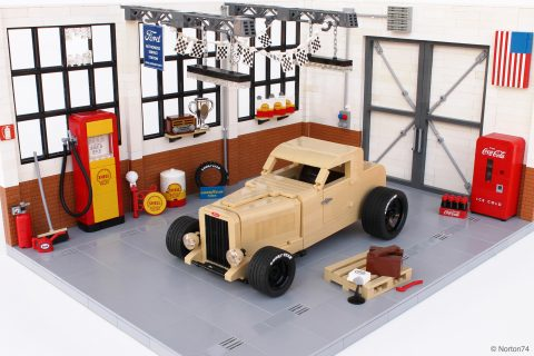 Vintage Ford Hot Rodding In Lego Style Petrolicious
