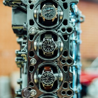 This Automatic Watch Winder Is Built Into An E36 M3 Engine Block