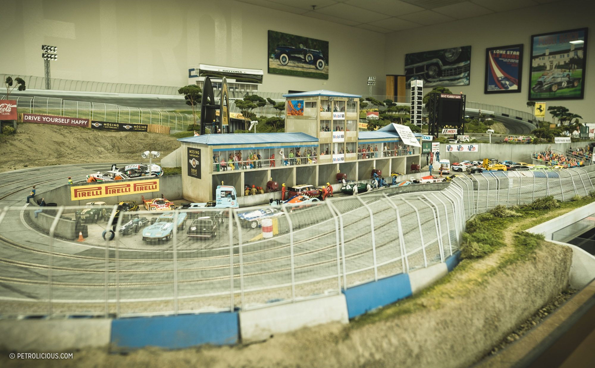 This slot car track is a beautiful homage to motorsport for Classic house tracks 2000