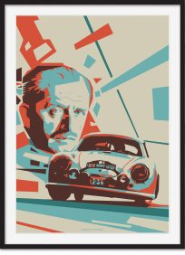 Ferdinand Porsche With Liege Rome Rally 356