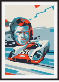 Steve McQueen with Le Mans 917