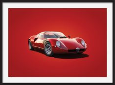 Alfa Romeo 33 Stradale – Colors of Speed Poster