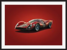 Ferrari 412P – Colors of Speed Poster