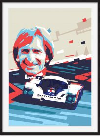 Derek Bell and Le Mans Porsche 956