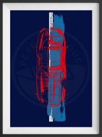Jaguar E Type – Designer Art – Limited Edition Print