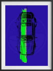 Porsche 911 Turbo – Designer Art – Limited Edition Print