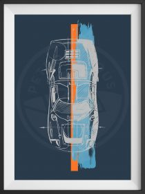 Ford GT40 – Designer Art – Limited Edition Print