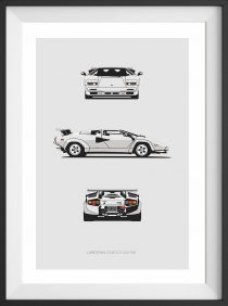 Countach Trilogy Print