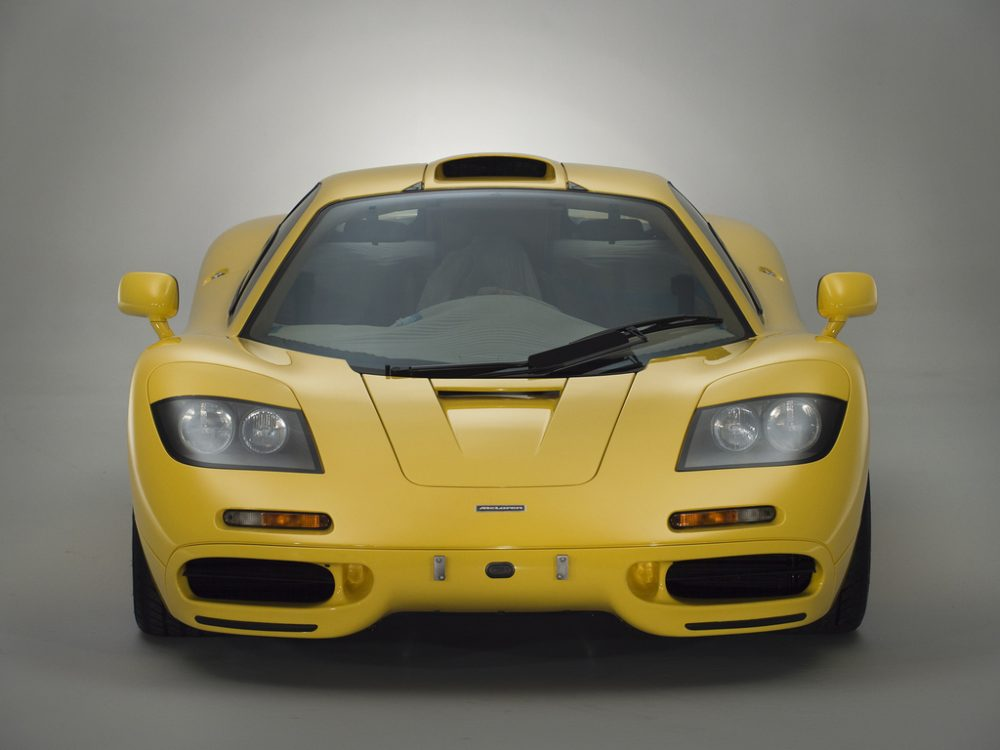 This Is A Good Option 1997 McLaren F1 In Dandelion Yellow Thats Clocked Just 239km 149mi And Still Wears Its Factory Applied Sheath Of Plastic Over