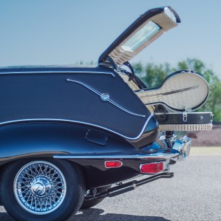 "GALLERY: Behind The Scenes On Our ""Harold and Maude"" Jaguar E-Type Hearse Film"