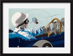 Speed Icons: Stirling Moss & Lotus 18 – Limited Edition Print