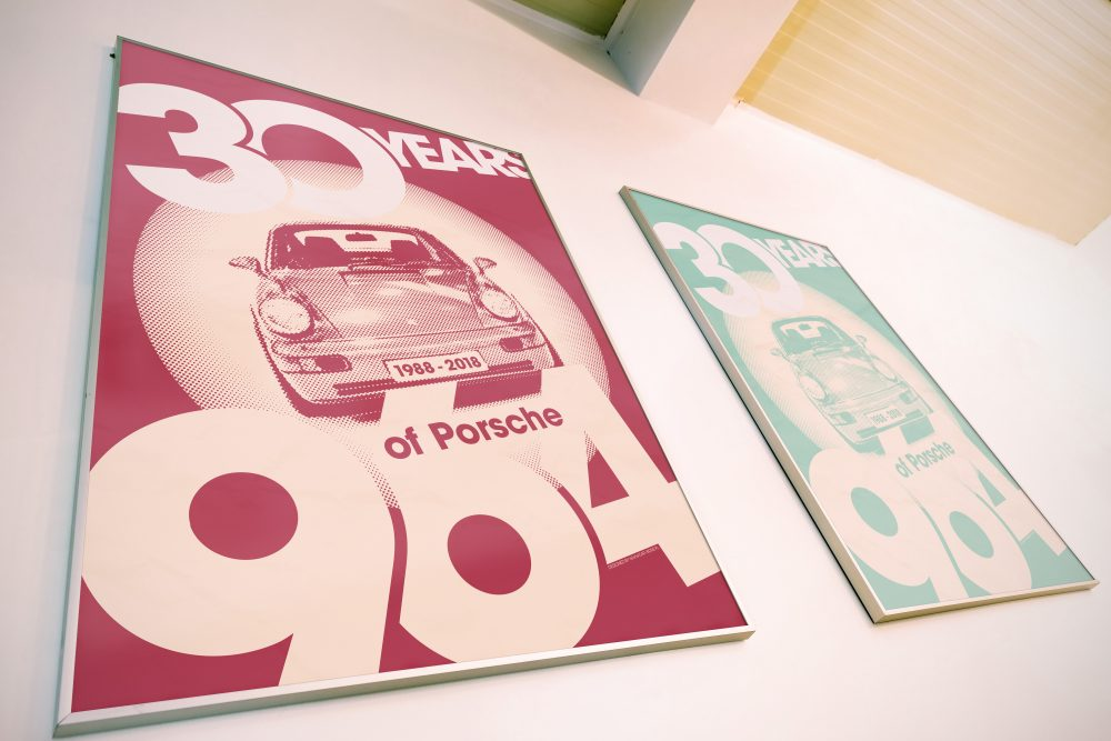Celebrate the porsche 964 with carbone's colorful new series of