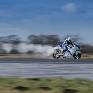 Meet A Steam-Powered Suzuki Built To Chase Land Speed Records