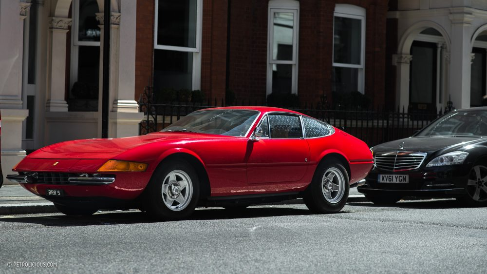 Falling In Love In London With A Street,Parked Ferrari 365