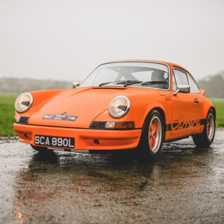 Josh Sadler Drives Gulf Orange Porsche Carrera 2.7 RS Like It Was Meant To Be, Even In The English Rain