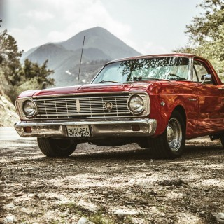 American Nostalgia And A Badass Grandma: 1966 Ford Ranchero Tows A Restored Teardrop