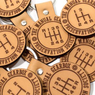 Save The Stick: New Leather Keychains From The Manual Gearbox Preservation Society Are In The Shop