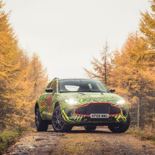 Aston Martin Just Tested A Prototype Of Its First DBX SUV On A Welsh Rally Stage