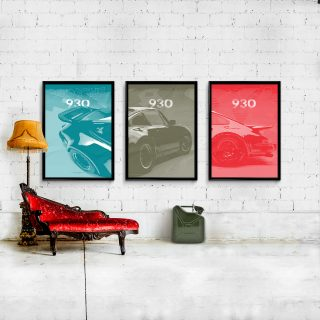 Turbocharged Porsche 930 Artwork Has Landed In The Petrolicious Shop