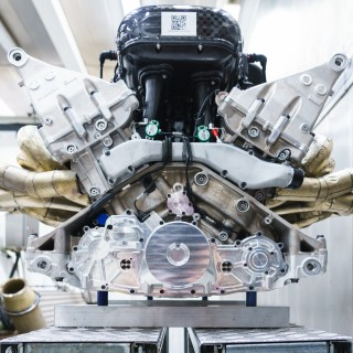 Aston Martin Shows Off Its New 1000BHP 11,100RPM V12 Valkyrie Engine