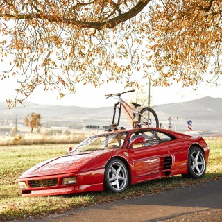 I Live In My Van, But My Other Car Is A Ferrari 348 With A Bike Rack