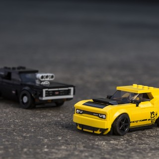 Now You Can Race A LEGO 1970 Dodge Charger R/T Against A Challenger SRT