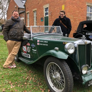 Meet The Reverend And The Car Designer Driving a 1949 MG From Glasgow To Monaco