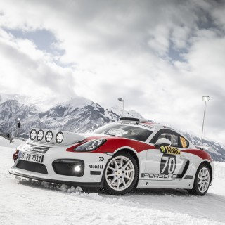 Porsche Rally Concept Gets To Play On The Ice And Snow In Austria