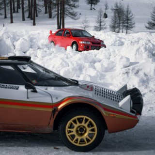 Lancer vs Lancia: Spending The Day With Two Rally Legends On A Frozen Field In Italy