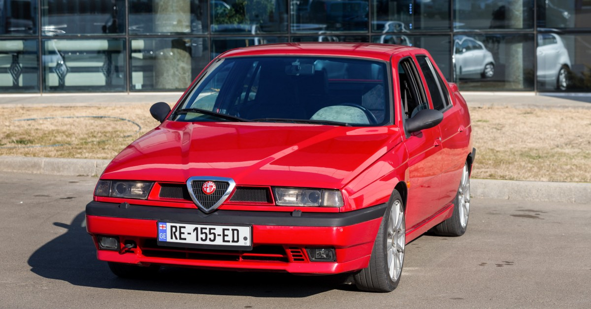 "This Alfa Romeo 155 With A ""Busso"" 3 0L V6 Engine Swap Is"