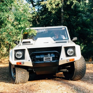 This Lamborghini LM002 Used To Tow Race Cars To Monaco
