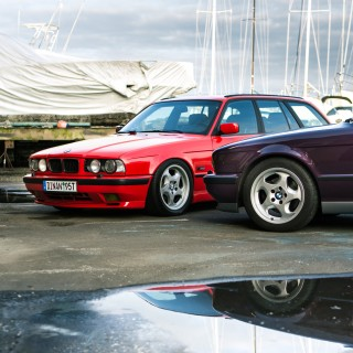 A Euro M5 Touring Meets Its Stateside Sibling, A Swapped And Supercharged 525iT