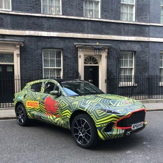 Aston Martin DBX Made A Surprise Visit To 10 Downing Street For St David's Day