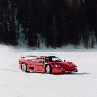 Only St. Moritz Could Pull Off A Concours With Ferrari F50s Powersliding Through The Snow